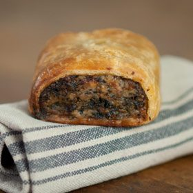 Pheasant, Partridge and Mushroom sausage rolls